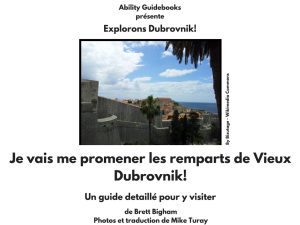 I Am Going To Walk the Walls of Old Dubrovnik (FRENCH)