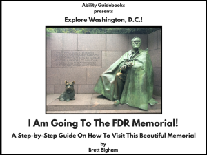 Ability Guidebook_ I Am Going To The FDR Memorial